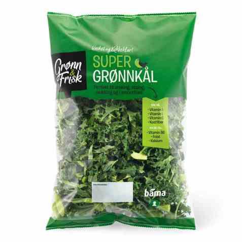 Bilde av Grønn og frisk super grønnkål.