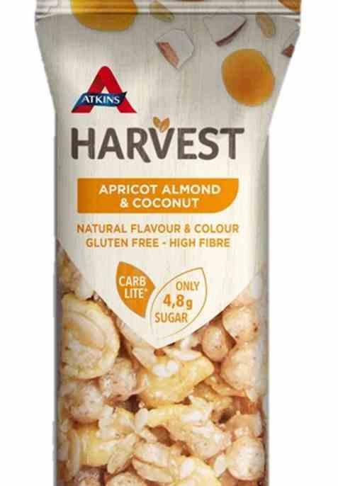 Bilde av Atkins Harvest nøttebar aprikos og kokos.