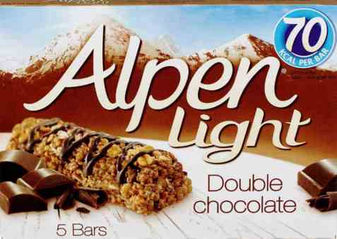 Bilde av Weetabix alpen bars light double chocolate.