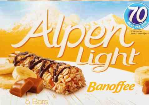 Bilde av Weetabix alpen bars light Banoffee.