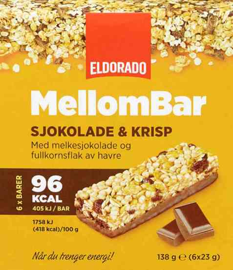 Bilde av Eldorado mellombar sjokolade og krisp.