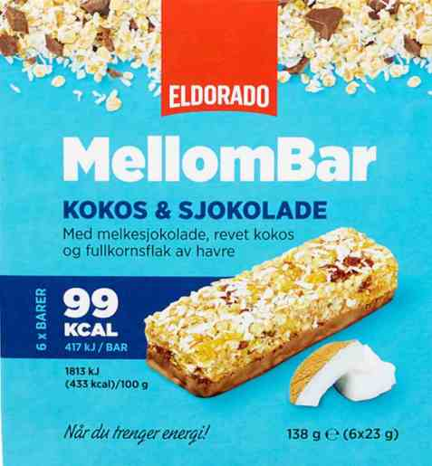 Bilde av Eldorado mellombar kokos og sjokolade.