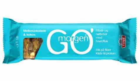 Bilde av Tine Gomorgen Müsli- og nøttebar med melkesjokolade og kokos.