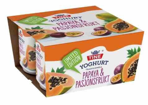 Bilde av TINE Yoghurt Papaya/Pasjonsfrukt.
