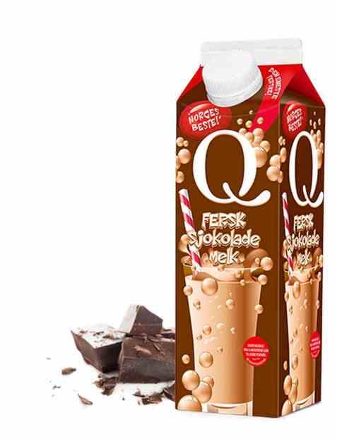 Bilde av Q fersk sjokolademelk 0,5 l.