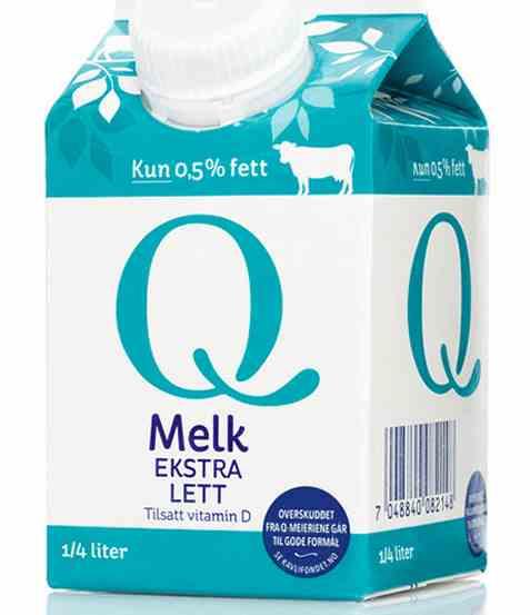 Bilde av Q Melk Lett 0,5 prosent 0,25 l.