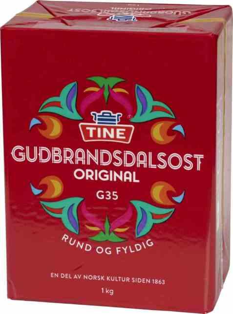 Bilde av Tine Gudbrandsdalsost original 1 kg.