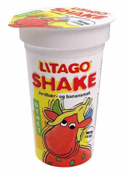 Bilde av Tine litago shake jordbær-banansmak.