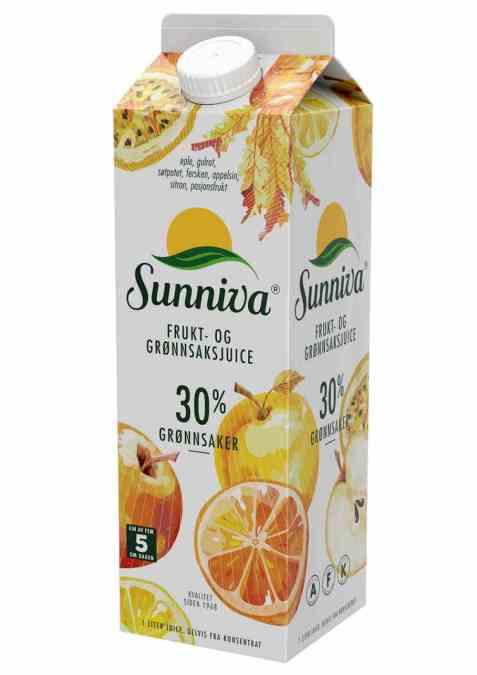 Bilde av Tine Sunniva® Frukt- og Grønnsaksjuice Eple og Gulrot.