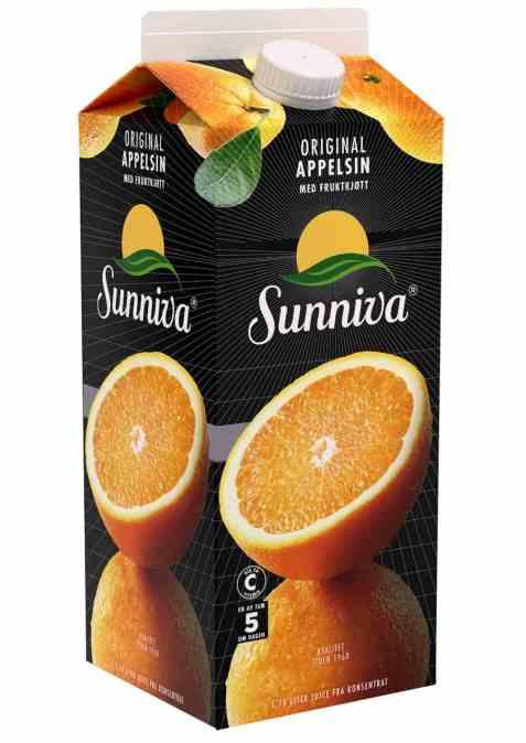 Bilde av Tine Sunniva Original Appelsinjuice m/fruktkjøtt 1,75 liter.