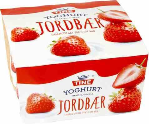 Bilde av TINE Yoghurt Jordbær 4x150 gr.