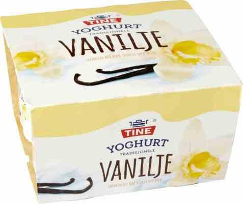 Bilde av TINE Yoghurt vanilje 4x150 gr.