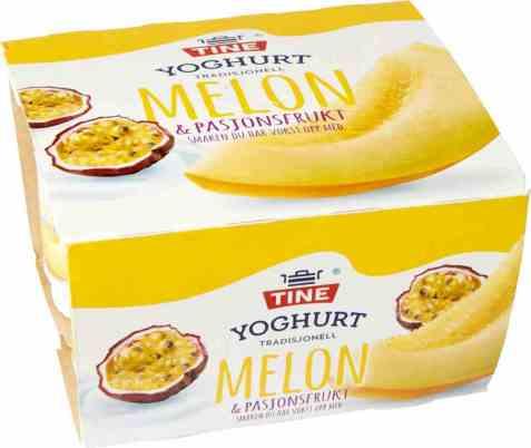 Bilde av TINE Yoghurt Melon/Pasjonsfrukt 4x150 gr.