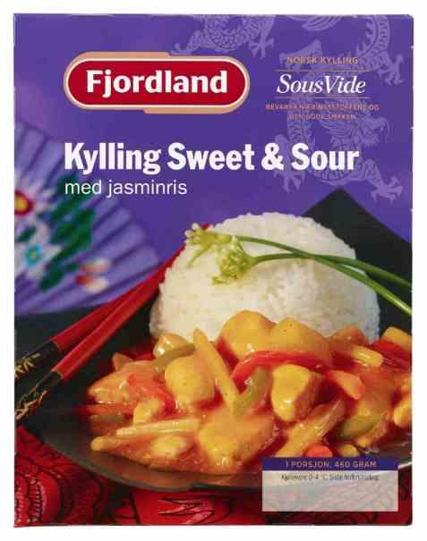 Bilde av Fjordland Kylling sweet & sour 460 g.