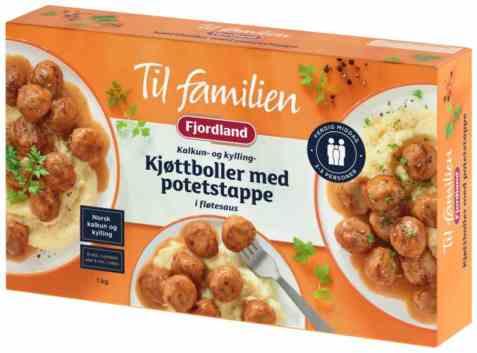 Bilde av Fjordland til familien Kyllingkjøttboller.