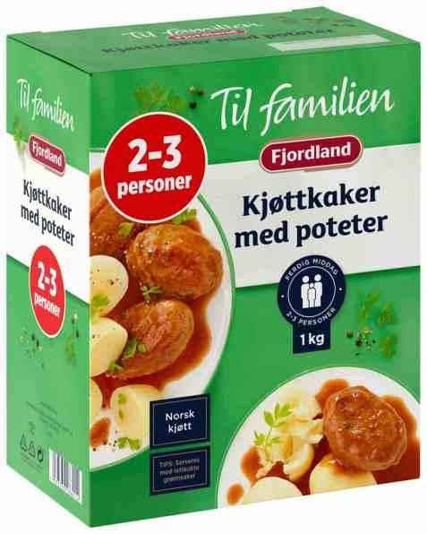 Bilde av Fjordland til familien Kjøttkaker m/Poteter.