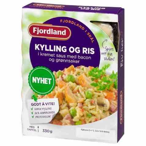 Bilde av Fjordland Kylling og ris med bacon og grønnsaker.