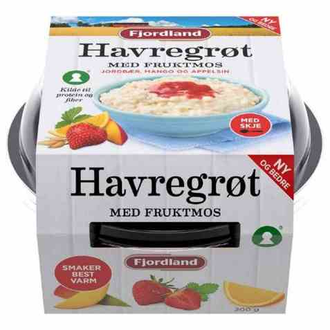 Bilde av Fjordland Havregrøt m/fruktmos.