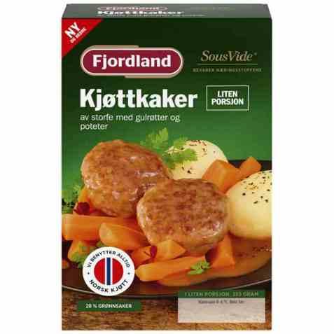 Bilde av Fjordland Kjøttkaker med gulrøtter liten porsjon.