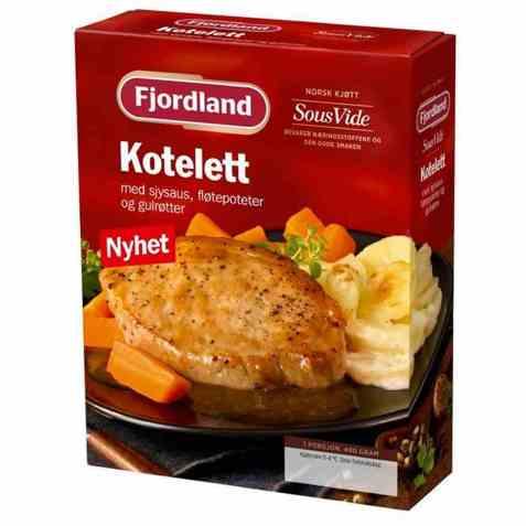 Bilde av Fjordland Koteletter m/fløtepoteter.