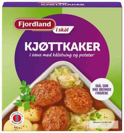 Bilde av Fjordland Kjøttkaker i saus i skål.