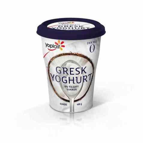Bilde av Yoplait Double 0 % Gresk Yoghurt kokos 400g.