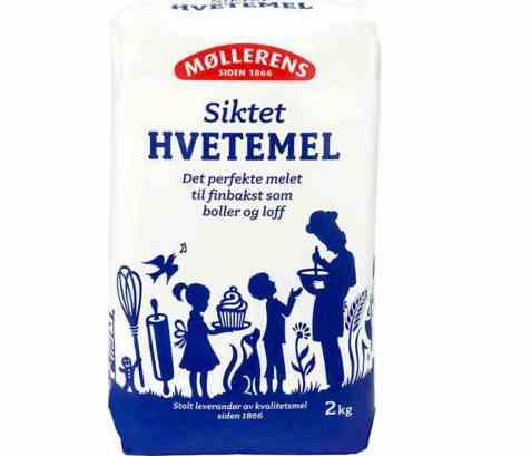 Bilde av Møllerens siktet hvetemel 2 kg.
