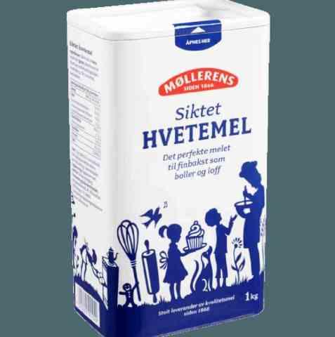 Bilde av Møllerens Siktet Hvetemel i boks.