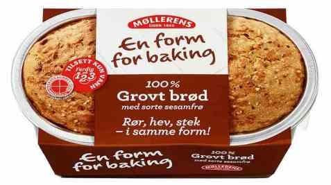 Bilde av Møllerens grovt brød med form.