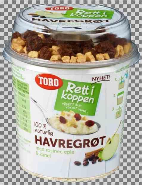Bilde av Toro Rett i koppen Havregrøt m/rosiner, eple & kanel porsjon.
