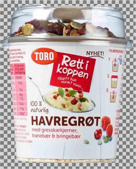 Bilde av Toro Rett i koppen Havregrøt m/gresskarkjerner, tranebær & bringebær porsjon.