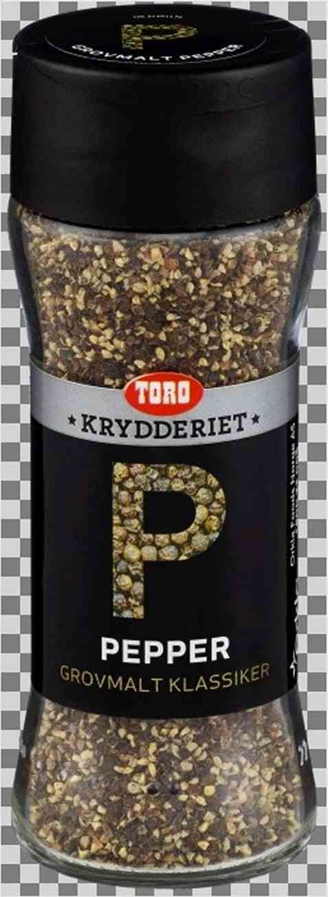 Bilde av Toro Krydderiet pepper sort grovmalt.