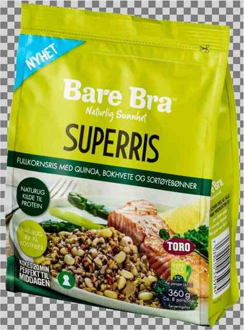 Bilde av Toro BareBra Superris med quinoa bokhvete og sortøyebønner.