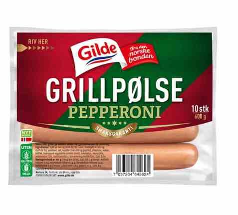 Bilde av Gilde grillpølse pepperoni.