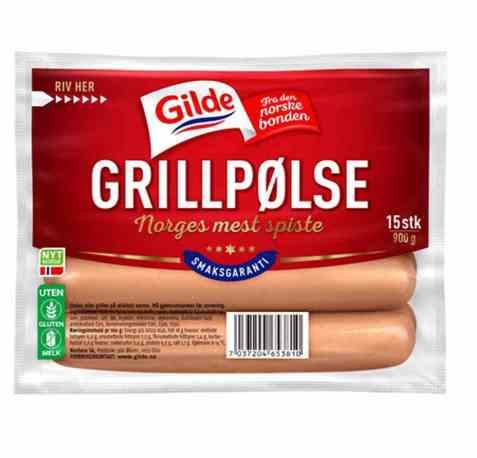 Bilde av Gilde Grillpølse 900 gr.