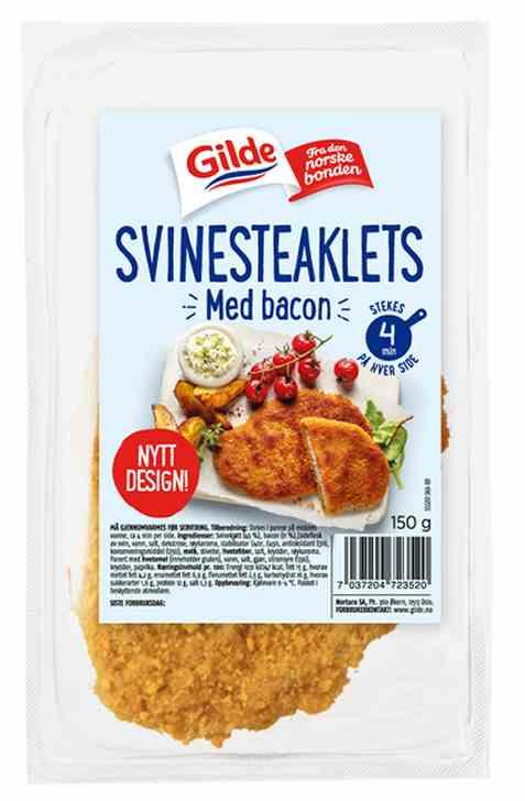 Bilde av Gilde Svinesteaklets med bacon 150g.