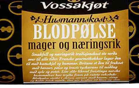 Bilde av Vossakjøt blodpølse.