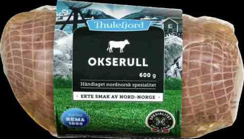 Bilde av Thulefjord Kokt Okserull 600 gr.