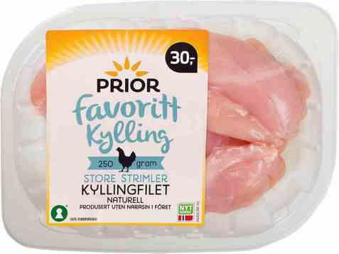 Bilde av Prior kyllingfilet store strimler 250 gr.