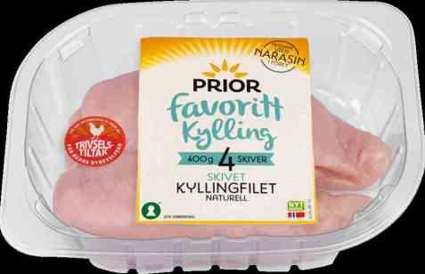 Bilde av Prior kyllingfilet skivet 400 gr favorittkylling.