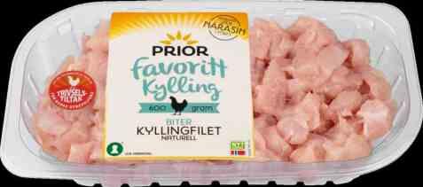 Bilde av Prior kyllingfilet biter 600 gr favorittkylling.