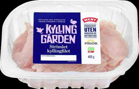 Bilde av Prior kyllingfilet strimler 400 gr kyllinggården.