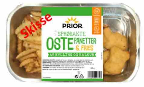 Bilde av Prior ostepanetter med pommes fries.