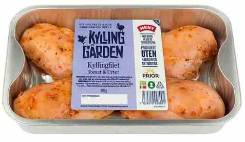 Bilde av Prior kyllingfilet med tomat og urter.