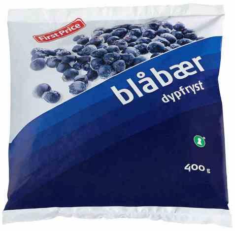 Bilde av First Price fryste blåbær.