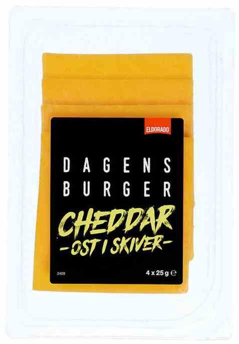 Bilde av Eldorado cheddar ost i skiver.