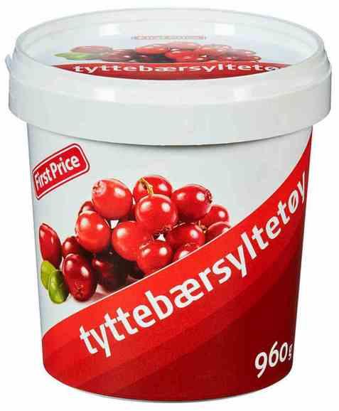 Bilde av First Price Tyttebærsyltetøy.