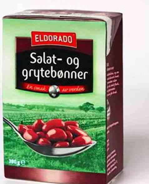 Bilde av Eldorado salat og grytebønner.