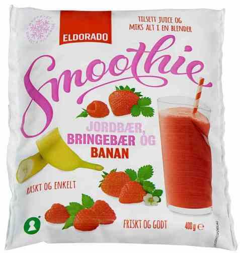 Bilde av Eldorado Smoothie jordbær, bringebær og banan.