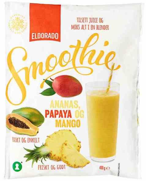 Bilde av Eldorado Smoothie ananas, papaya og mango.